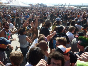 The circle pit during Andrew W.K